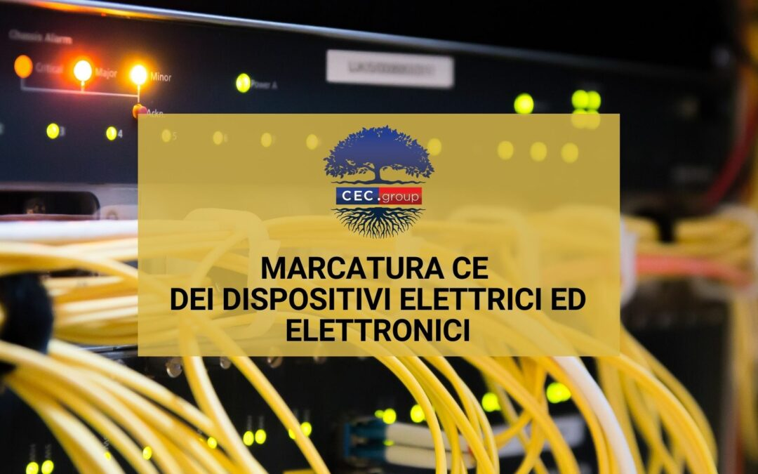 marcatura ce prodotti elettrici ed elettronici