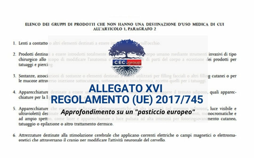 Allegato XVI Regolamento (UE) 2017/745